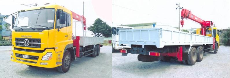 Xe tải gắn cẩu Atom 7 tấn