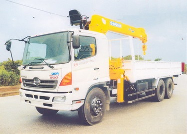 Xe Hino gắn cẩu Soosan 7 tấn 6 đốt SCS746 , xe tải cẩu 7 tấn